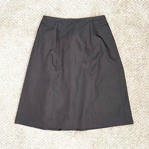 CHANEL CC Black Silk  Skirt